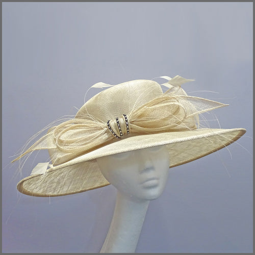 Classic Wedding or Race Day Hat in Natural