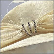 Load image into Gallery viewer, Classic Wedding or Race Day Hat in Natural