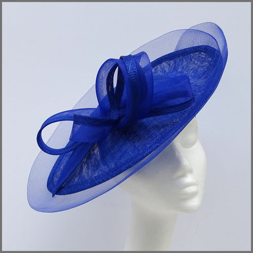 Cobalt Blue Wedding Disc Fascinator on Headband