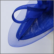 Load image into Gallery viewer, Cobalt Blue Sinamway & Crinoline Disc Fascinator