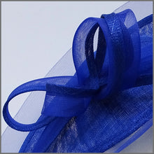 Load image into Gallery viewer, Cobalt Blue Race Day Disc Fascinator Hatinator