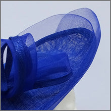Load image into Gallery viewer, Cobalt Blue Special Occasion Disc Fascinator Hatinator