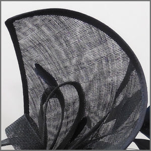 Dramatic Black Feather Hatinator on Headband