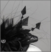 Load image into Gallery viewer, Elegant Black Formal Event Mini Disc Fascinator