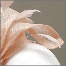 Load image into Gallery viewer, Elegant Blush Pink Feather Fascinator