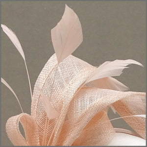 Elegant Blush Pink Special Occasion Headpiece