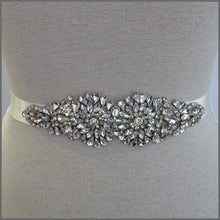 Load image into Gallery viewer, Elegant Bridal Sparkling Crystal Wedding Ribbon Belt