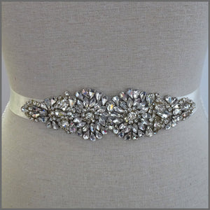 Elegant Bridal Sparkling Crystal Wedding Ribbon Belt