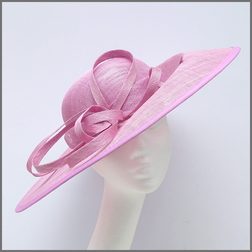 Elegant Candy Pink Hatinator on Headband for Formal Event
