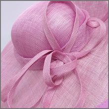 Load image into Gallery viewer, Elegant Candy Pink Sinamay Disc Fascinator