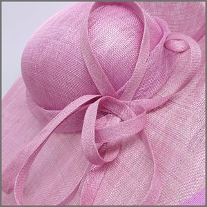 Elegant Candy Pink Sinamay Disc Fascinator