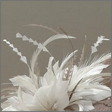 Load image into Gallery viewer, Elegant Latte & White Pearl Mini Disc Fascinator Hatinator