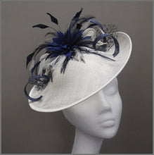 Load image into Gallery viewer, Formal Flower Hatinator in Navy Blue & Ivory
