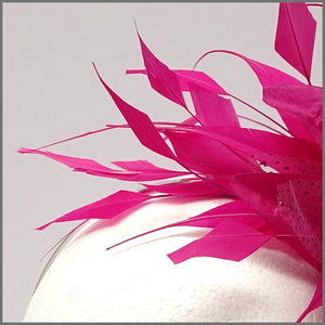 Fuchsia Pink Flower Fascinator for Race Day