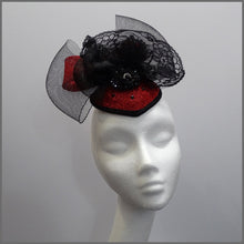 Load image into Gallery viewer, Halloween Red & Black Queen Vampire Headdress