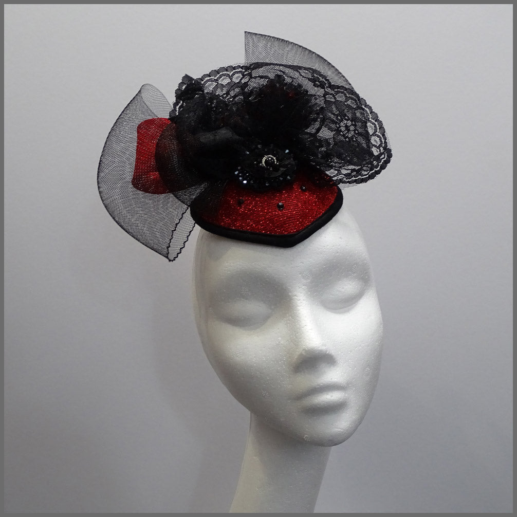 Halloween Red & Black Queen Vampire Headdress