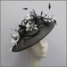 Load image into Gallery viewer, Ladies Day Classic Black & White Flower Hatinator
