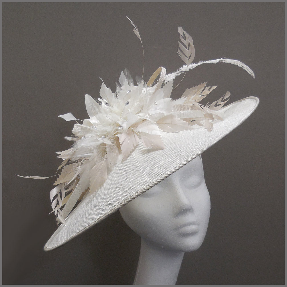 Hatinator for Royal Ascot in White & Oyster