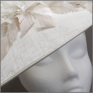 Hatinator for Derby day in White & Oyster