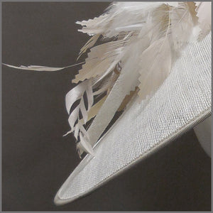 Hatinator for Ladies day in White & Oyster