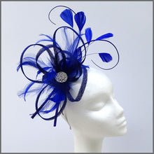 Load image into Gallery viewer, Large Lightweight Fascinator in Cobalt Blue