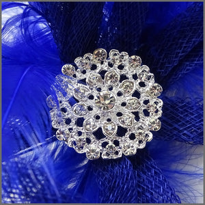 Large Lightweight Fascinator with Diamanté
