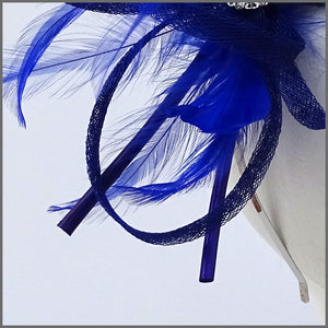 Large Lightweight Headpiece in Cobalt Blue