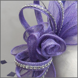 Light Purple Rose Flower Formal Fascinator