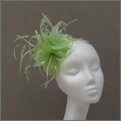 Headband Fascinator in Lime Green for Race Day