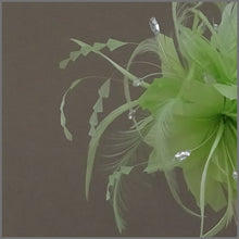 Load image into Gallery viewer, Headband Fascinator in Lime Green for Race Day