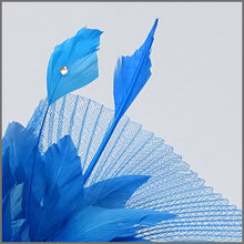 Load image into Gallery viewer, Marine Blue Crinoline Special Occasion Fascinator