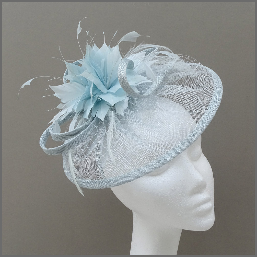 Mini Hatinator with Flower in Peppermint Blue for Wedding