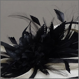 Mother of the Bride Hat in Black & Ivory