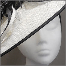 Load image into Gallery viewer, Mother of the Bride Disc Fascinator in Black & White