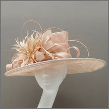 Load image into Gallery viewer, Mother of the Bride Wedding Hat in Nude Blush Pink