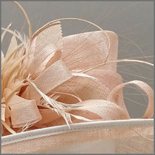 Load image into Gallery viewer, Derby Day Ladies Hat in Nude Blush Pink