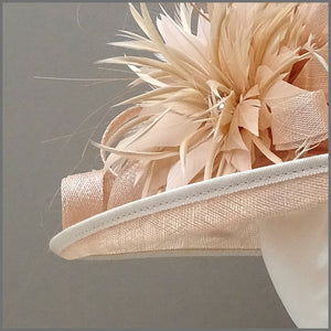 Royal Ascot Ladies Day Hat in Nude Blush Pink