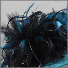 Load image into Gallery viewer, Mother of the Bride Wedding Hat in Navy & Teal