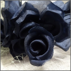 Flower Wedding Hat in Silver Grey & Navy