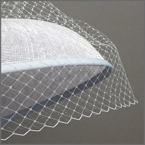 Derby Day Hat in Silver Grey & Navy