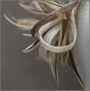 Natural Feather & Sinamay Occasion Fascinator
