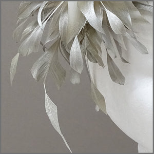 Occasion Feather Fascinator in Champagne Gold on Headband