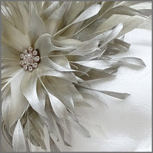 Load image into Gallery viewer, Occasion Feather Fascinator in Champagne Gold for Formal Event