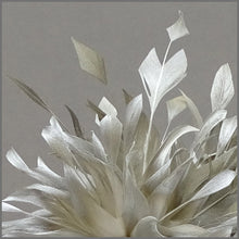 Load image into Gallery viewer, Occasion Feather Headpiece in Champagne Gold for Formal Event