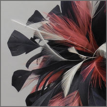 Load image into Gallery viewer, Occasion Feather Fascinator Dark Navy & Coral