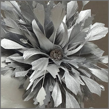 Load image into Gallery viewer, Occasion Feather Fascinator in Metallic Silver for Formal Event