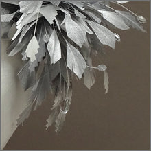 Load image into Gallery viewer, Occasion Feather Fascinator in Metallic Silver for Race Day