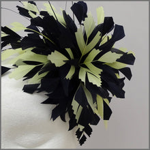 Load image into Gallery viewer, Occasion Feather Fascinator in Navy & Lemon