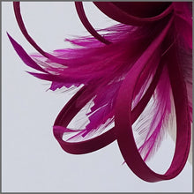 Load image into Gallery viewer, Pretty Magenta Fascinator with Soft Feathers for Hen Party