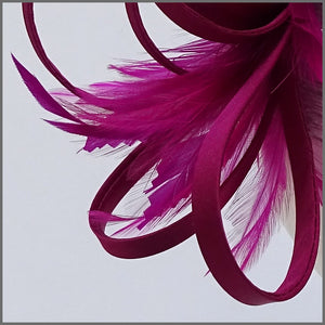 Pretty Magenta Fascinator with Soft Feathers for Hen Party